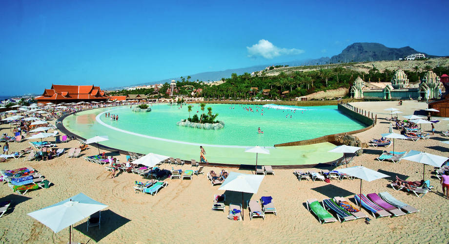 Siam Park beach and wave pool